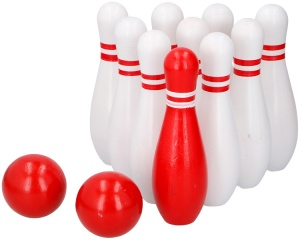Lifetime Games bowlingset wit/rood junior 12-delig