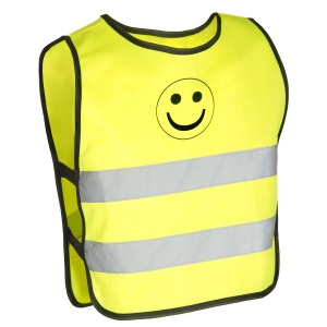 M-Wave Reflecterend veiligheidsvest smiley junior