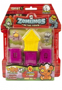 Magic Box Int. Zomlings House serie 1 roze/geel
