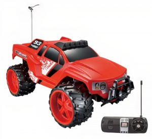 Maisto jeep RC Vudoo off-road 1:16 rood/zwart 2-delig