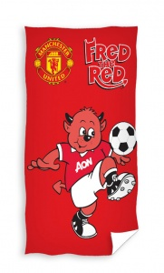 Manchester United handdoekje Fred The Red 30 x 50 cm rood