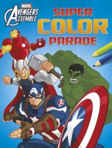 Marvel kleurboek Avengers assemble super color parade 30 cm