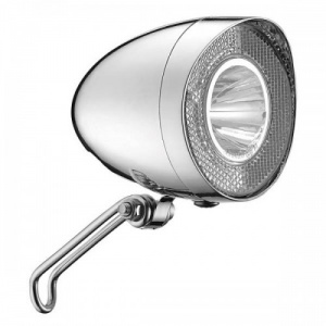 Marwi Union koplamp Chroom dynamo Led zilver