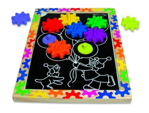 Melissa & Doug magnetisch bord Switch & Spin 22-delig
