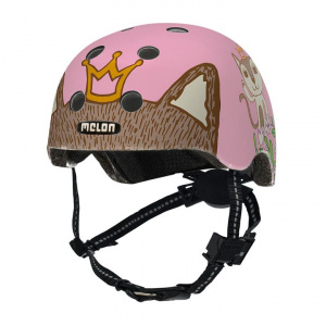 Melon fietshelm Toddler Robin & Miez junior roze mt 44-50 cm