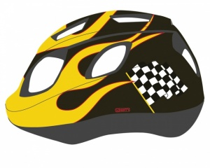 Mighty Helm Junior Race Zwart Geel