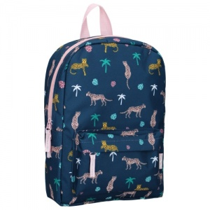 Milky Kiss rugzak Pretty Okay jungle 34 x 23 x 13 cm donkerblauw