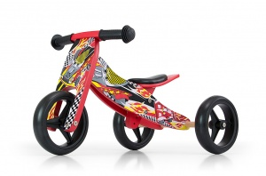 Milly Mally 2-in-1 loopfiets Jake Cars Junior Rood