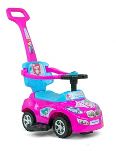 Milly Mally Happy loopwagen junior roze/blauw