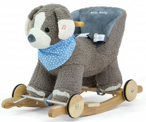 Milly Mally hobbelfiguur Gray Dog grijs