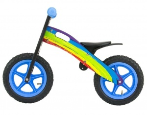 Milly Mally loopfiets King Rainbow 12 Inch Junior Multicolor