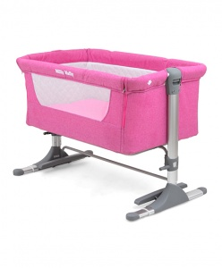 Milly Mally reisbed Side by Side 96 x 57 x 36 cm roze