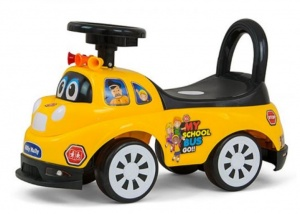 Milly Mally Ride On Tipi loopwagen Schoolbus junior geel/zwart