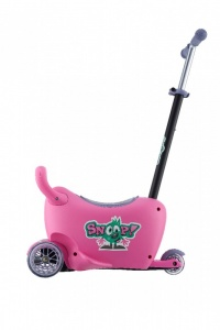 Milly Mally Snoop! 3-in-1 loopwagen en step roze