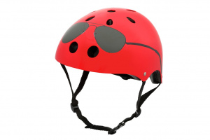 Mini Hornit Lids Fietshelm The Aviator rood junior
