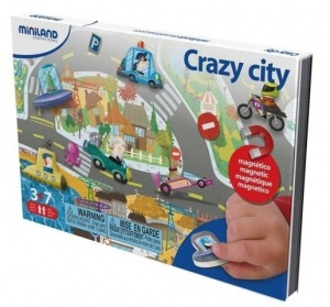 Miniland on the go magnetishc taal spel: crazy city
