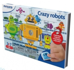Miniland on the go magnetishc taal spel: crazy robots