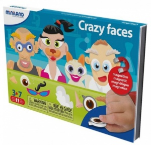 Miniland on the go magnetishc taal spel: crazy faces