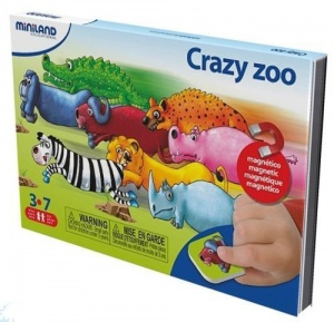 Miniland on the go magnetishc taal spel: crazy zoo