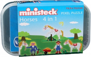 Ministeck paarden-box 4-in-1 500-delig