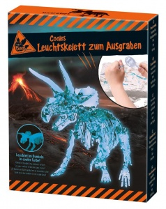 Moses dinosaurus opgravingsset glow in the dark Triceratops