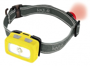 Moses hoofdlamp Expedition Natur led met achterlicht geel
