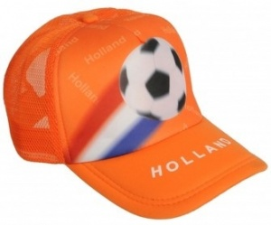 Nederlands Supporters pet 30 x 14 x 22 cm oranje one size