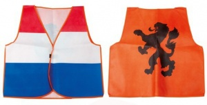 Nederlands Supportersvest oranje/rood/wit/blauw one size