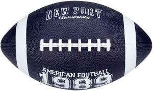 New Port American football medium marineblauw/wit 26 cm