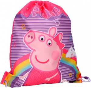 Nickelodeon gymtas Peppa Pig 44 x 37 cm polyester roze/paars