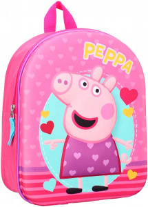 Nickelodeon rugzak Peppa Pig 3D 9 liter polyester roze