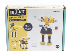 The Offbits bouwpakket Character kit 3-in-1 Infobit geel