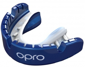 Opro sportbitje Self-Fit GEN4 gold braces unisex blauw/wit