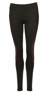 Papillon sportlegging dames zwart/bordeaux