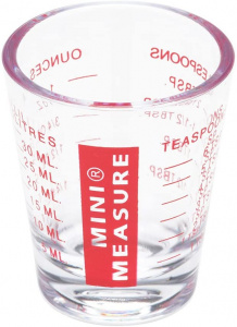 Patisse mini-maatbeker 6,1 x 0,5 cm 30 ml transparant/rood