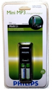 Philips batterijlader Mini MP3 10 x 3,5 x 3,5 cm zwart