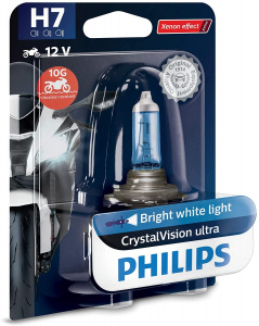 Philips motorlamp H7 CrystalVision 12V/55W wit