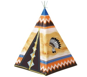Playfun speeltent indianen tipi 95 x 95 x 130 cm multicolor
