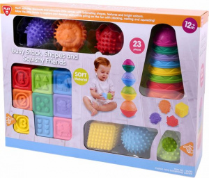 Playgo stapelspel Squizy Friends junior 23-delig