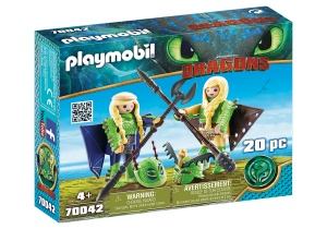 PLAYMOBIL Dragons - Schorrie en Morrie in vliegpak (70042)