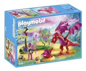 PLAYMOBIL Fairies: Drakenhoeder met rode draken (9134)