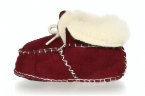 Playshoes babyschoenen schapenvacht junior bordeaux