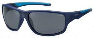 Polaroid sunglasses 7010/SZX9/C3 men's blue with grey lens