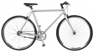 Popal Fixed Gear 28 Inch Heren Knijprem Zilver
