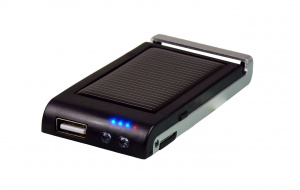 PowerPlus powerbank Colibri Solar met led lamp 800 mAh zwart