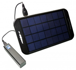 PowerPlus powerbank USB Solar Camel 21 x 12 cm zwart
