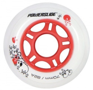 Powerslide skatewielen 76 mm wit 4 stuks