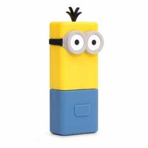 PowerSquad powerbank Minions Kevin 12 cm geel/blauw 2-delig