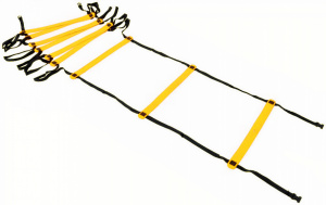 Precision trainingsladder Indoor 400 x 51 cm nylon zwart/geel
