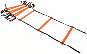 Precision trainingsladder Neo 400 x 51 cm nylon zwart/oranje